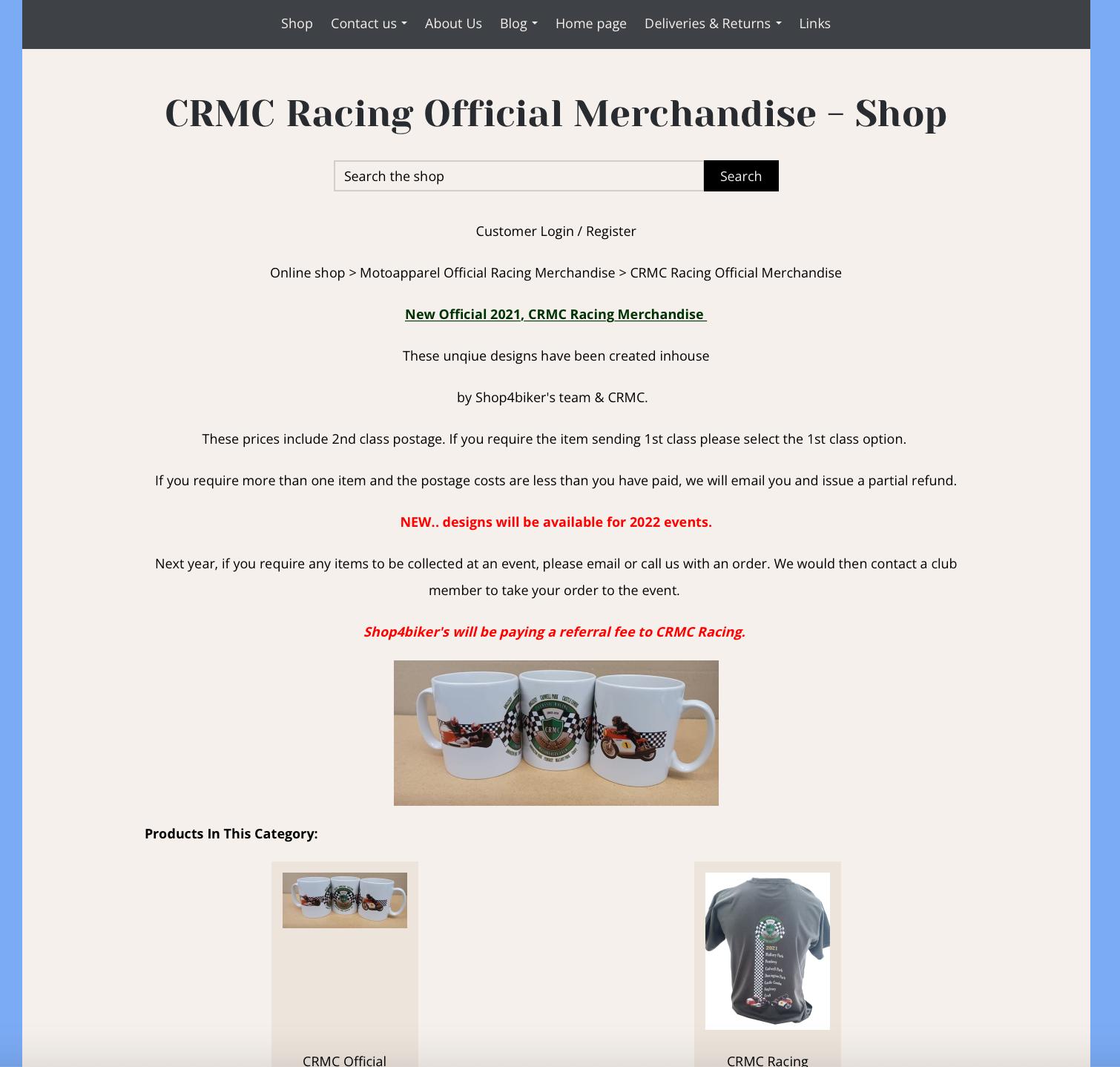 New CRMC Shop